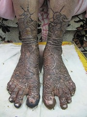 Feet of Bride
