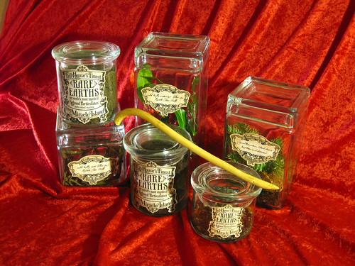 Miracle Island apothecary jars