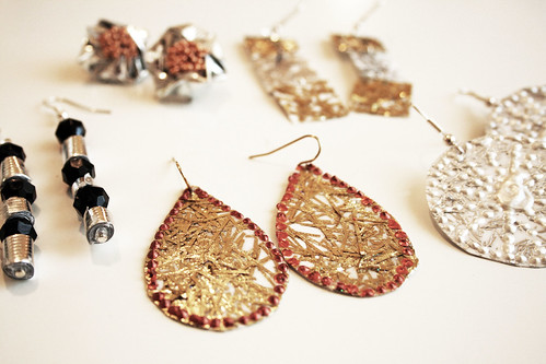 reuse,  earrings
