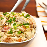 Creamy Artichoke Lemon & Chicken Pasta