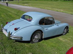 Jaguar XK 140 (nakhon100) Tags: blue cars classics jaguar coupe xk xk140