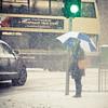 Dublin Snow (shaymurphy) Tags: road street dublin woman snow bus fall car umbrella pembroke lights traffic flakes blizzard leeson nikkor85mmf18 nikond700