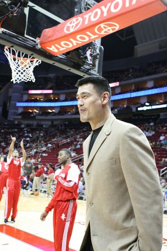 December 31st, 2010 - Yao Ming at the Rockets-Raptors game on New Year's Eve
