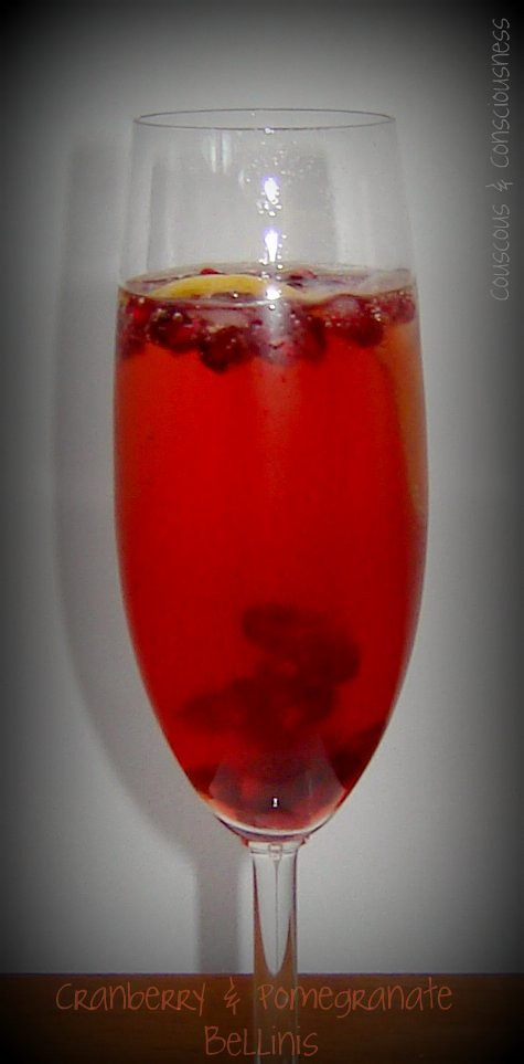 Cranberry & Pomegranate Bellinis 1
