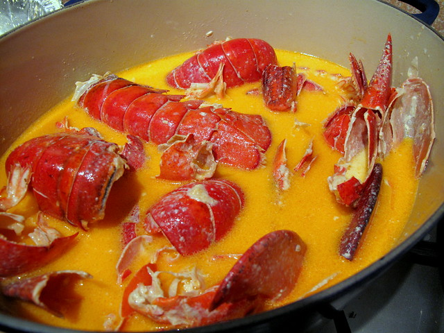Lobster stew brewing