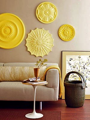 2+Yellow+Wall+Art