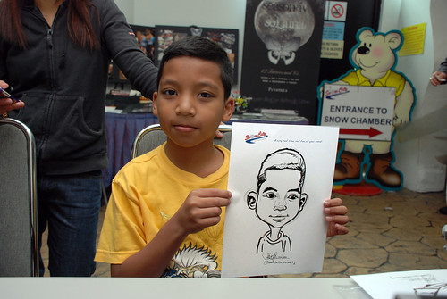 Caricature live sketching for Snow City Winter Wonderland Activities- Day 3 - 6