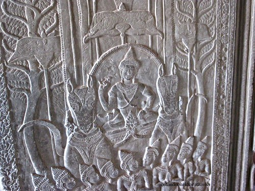 lord rama rides a chariot