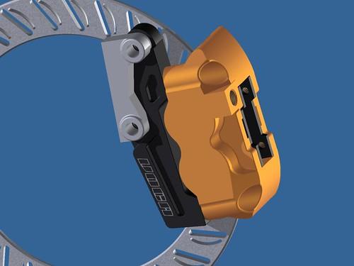 Soporte pinza VOCA RACING para acoplar pinza delantera Stage6 4 pistones para Pitbike 5319877393_4713b48a64