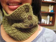 green thermis, pt.1 (mrsLiz) Tags: neck handmade knit fo warmer thermis ravelry