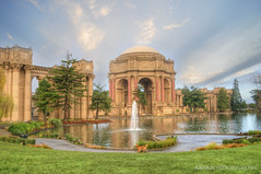 golden retriever at the palace of fine arts (Kris Kros) Tags: sf sanfrancisco photoshop golden san francisco fine arts palace retriever kris hdr 900 kkg kros kriskros 1xp cs5 photomtix of kkgallery
