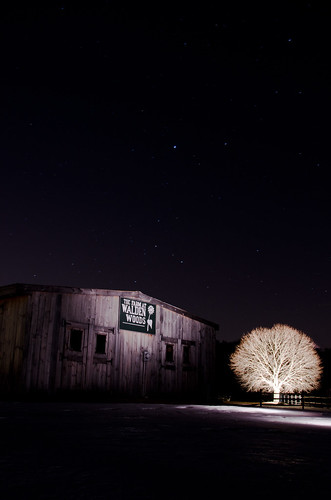 Light painting experiment: Farm at Walden Woods