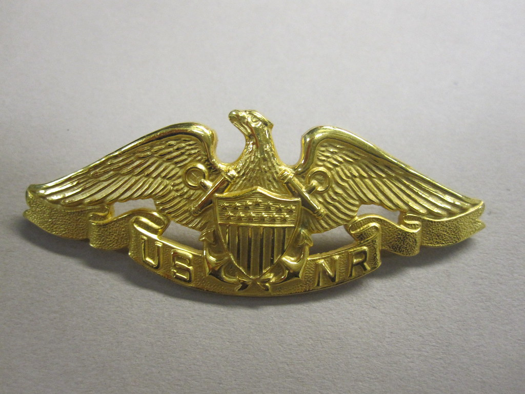 2010-134-1 Uniform, Qualification Pin, Merchant Marine Naval Reserve,