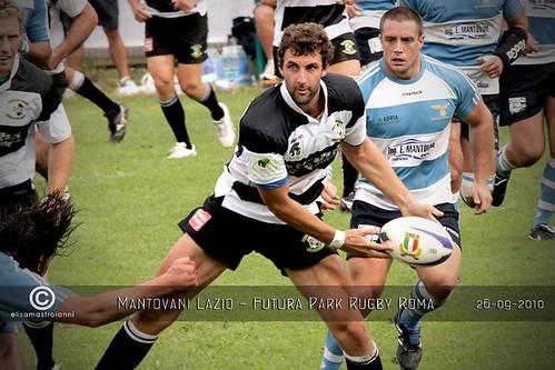 Giovanni Manozzi, centro della Rugby Roma - foto Elisa Mastroianni