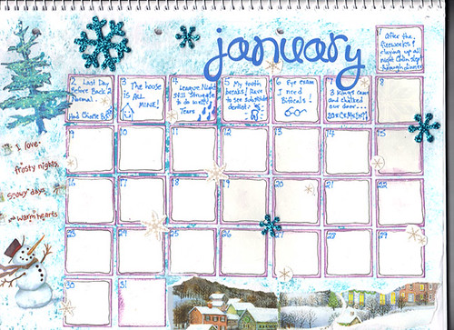 January Calendar in progress!
