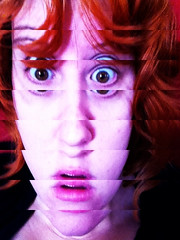 glitch (cavale) Tags: pink me girl self mouth bigeyes eyes purple redhead bunker surprise shock trippy psychedelic glitch iphone cavale decim8