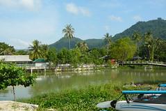 Beach and Lagoon, Lamai Beach (Mandy Harvey aka Beadsme) Tags: thailand kohsamui raining sunbathing lamaibeach lastdayofholiday