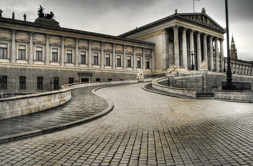 Parliament of Austria. Vienna. Parlamento de Austria. Viena
