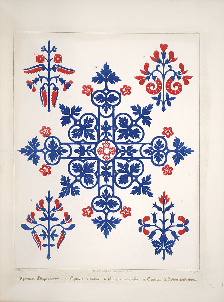 decoration drawings by Pugin 1850