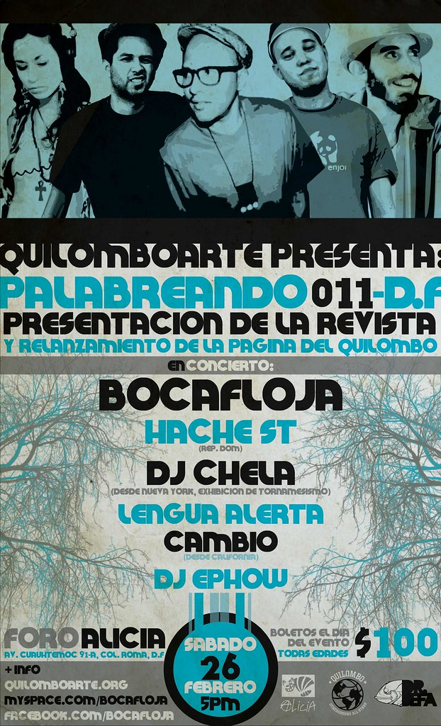 Quilomboarte presenta Palabreando 011-D.F