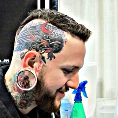 New Head Tattoo by Derek Noble at Star of Texas Tattoo Art Revival Convention Austin Texas January 9, 2011 (HeadOvMetal) Tags: seattle tattoo austin washington artist texas january convention 2011 dereknoble