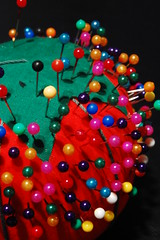9 (BME Images) Tags: color rainbow bright sewing balls pins burst cushion