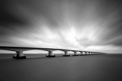 Storm II (Kees Smans) Tags: longexposure sky bw storm art netherlands clouds exposure wind fineart peaceful zeeland nd ideas waterscape cloudmovement daytimelongexposure zeelandbridge blackandwhitefineart bwnd110 keessmans 2010keessmans wwwbwfineartcom