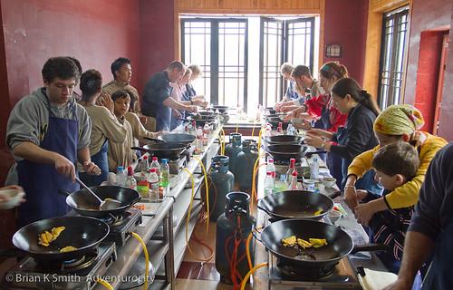 Yangshuo Cooking School classroom