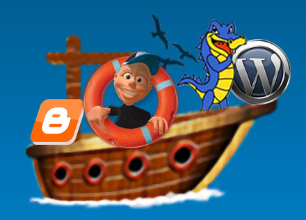 Wordpress, Hostgator, and Blogger