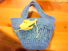 bolso playero(mini) (Ptits Dlcs ) Tags: crochet hechoamano calipso portacelular fatbag carterita