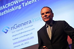 "Don Tapscott <a style=""margin-left:10px; font-size:0.8em;"" href=""http://www.flickr.com/photos/33037897@N06/5349537694/"" target=""_blank"">@flickr</a>"
