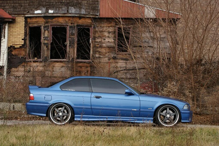e36 M3 in Detroit wearing Dodo Juice Supernatural
