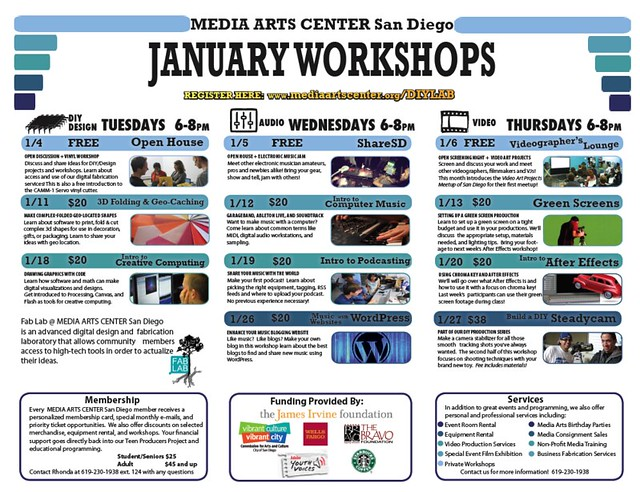 January Workshops