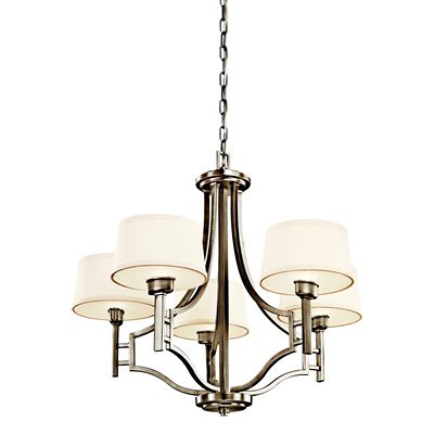lighting, kichler quinn 5 light chandelier, in antique pewter, $390 lighting universe