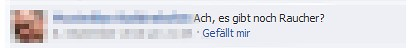 screenshot Kommentar auf Facebook