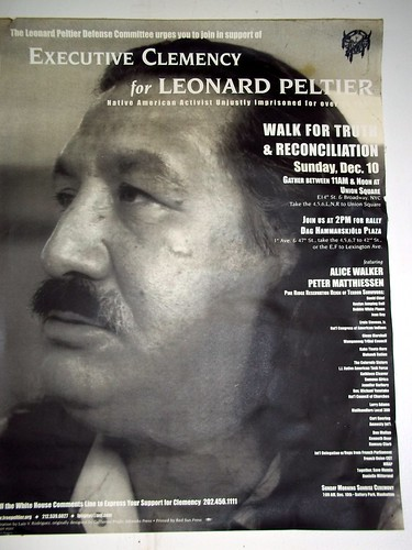 Executive Clemency for Leonard Peltier Rally Poster
