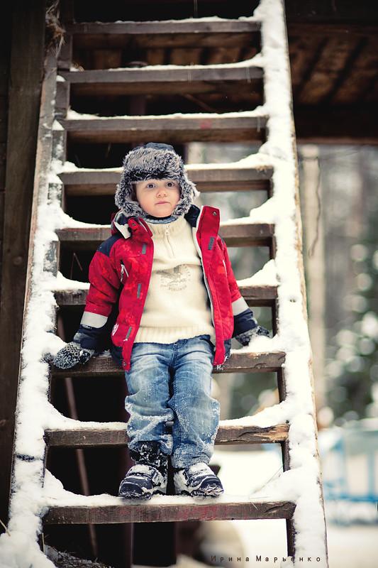 Фотосессия на улице зимой. Фотограф Ирина Марьенко. Fotostomp.ru