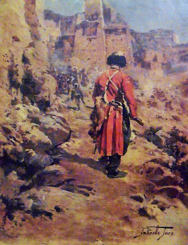ხევსური წითელში ~ Khevsuri in red