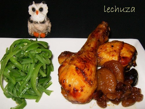 Pollo con orejones-plato