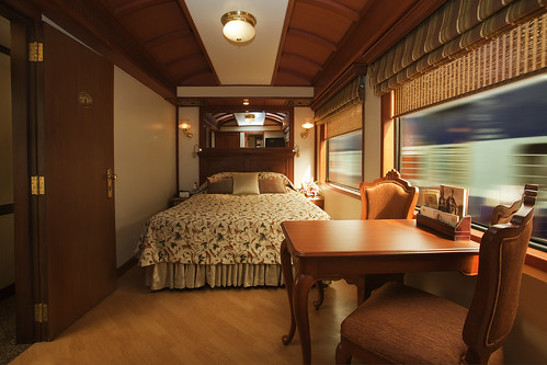 Maharajas Express plush sleeping cabin