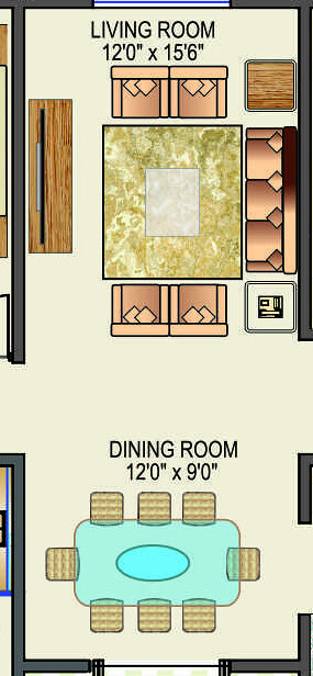 "12'x9' Dining 12'x15'6"" Living in 151 Lakhs Rs. 3.5 BHK Flat in Crosswinds Baner Pune"