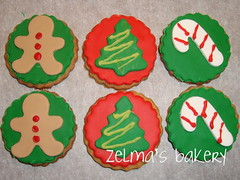Sugar Cookies - Christmas Assortment - small rounds