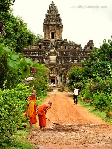 Working Monks - Angkor, Cambodia