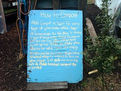 How to Compost sign
