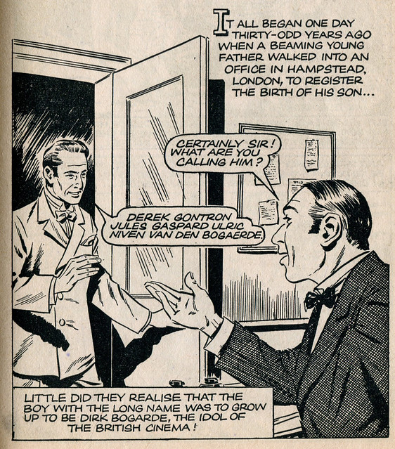 Dirk Bogarde comic