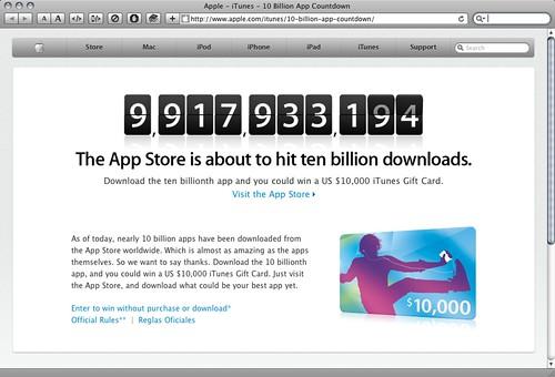 App Store 10 billion countdown
