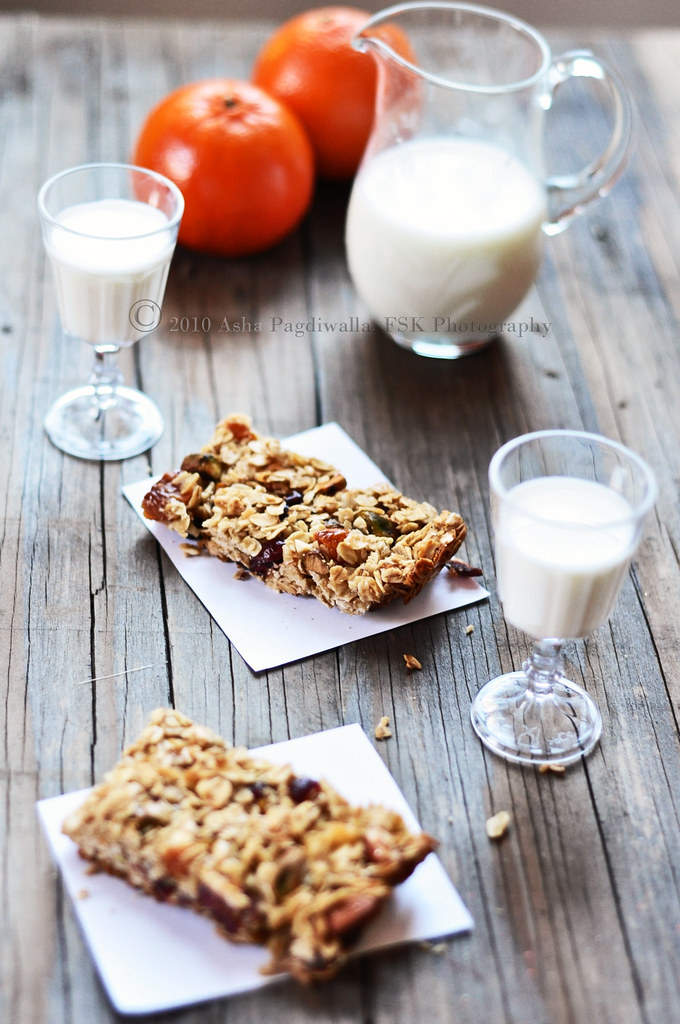 Granola Bars with Orange