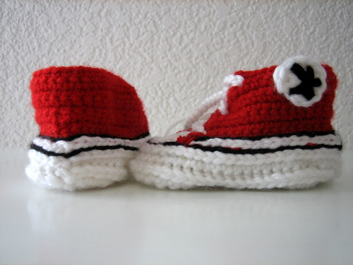 Red Baby Converse Sneakers Jan 2011