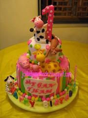 Animals themes birthday cake (Jcakehomemade) Tags: 1stbirthdaycake kidsbirthdaycake pigbirthdaycake puppybirthdaycake jcakehomemade cowbirthdaycake animalsthemebirthdaycake giraffebirthdaycake monkeybithdaycake meganthamsbirthdaycake