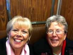 Debbie and I on the train